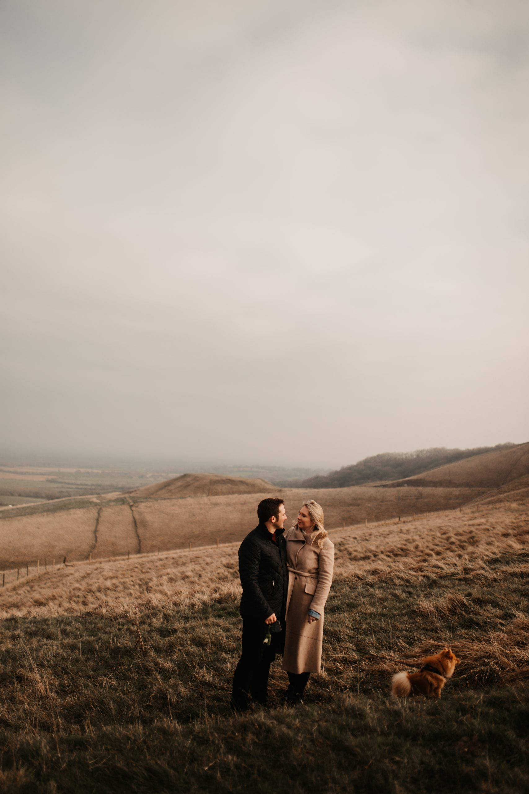 Mike & Charley's Winter Engagement Shoot Wiltshire-151