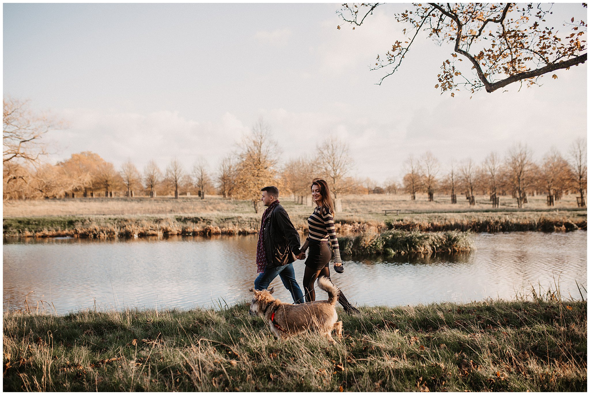 Charlie & Laurence Autumn Bushy Park Couple Shoot-161.jpg