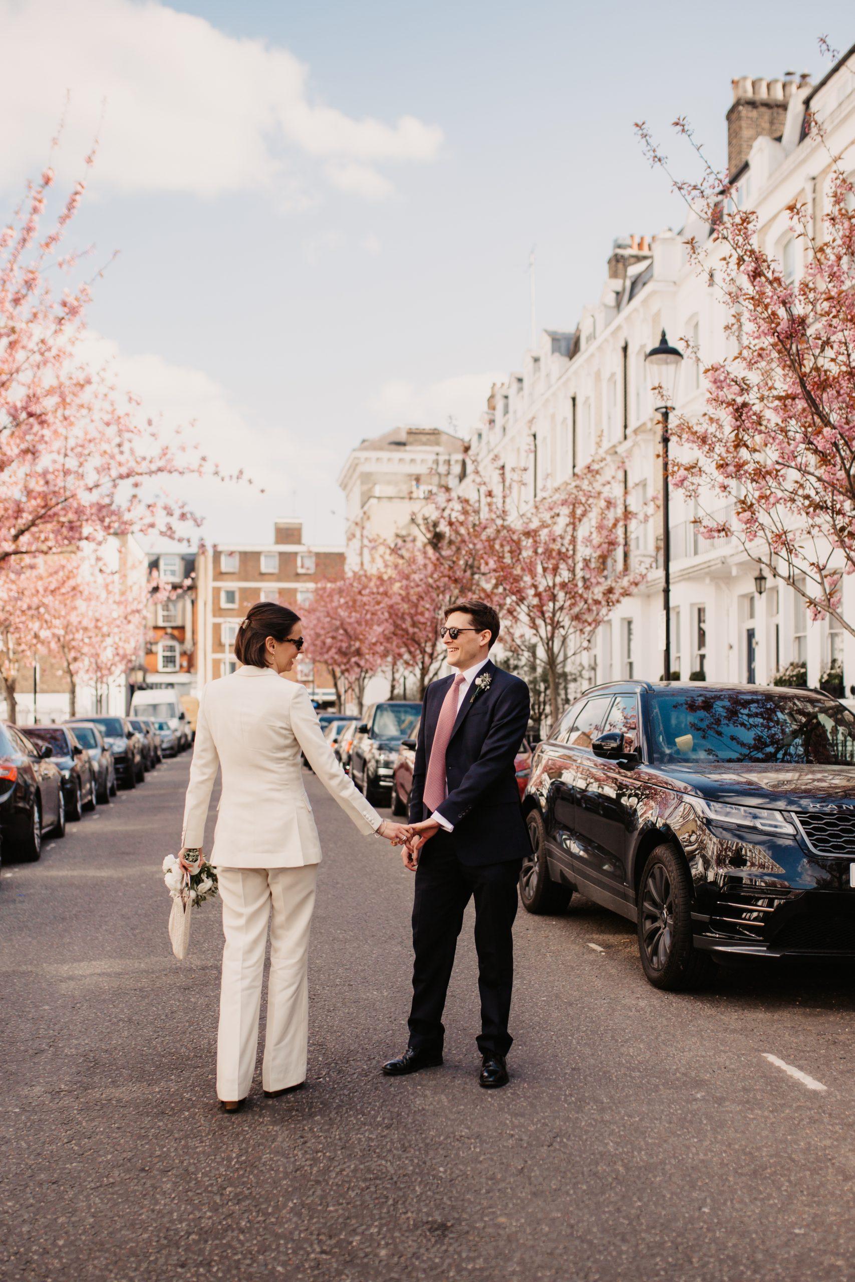 Spring Blossom Micro Wedding | Chelsea, London